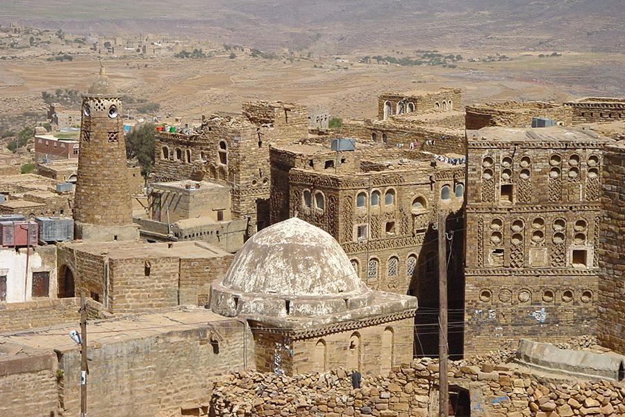 Stenen gebouwen in Thulla