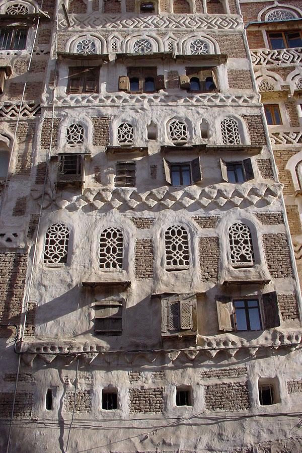 Torengebouw in Sana'a