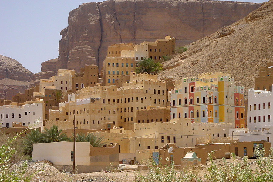 Dorp in Wadi Dawan