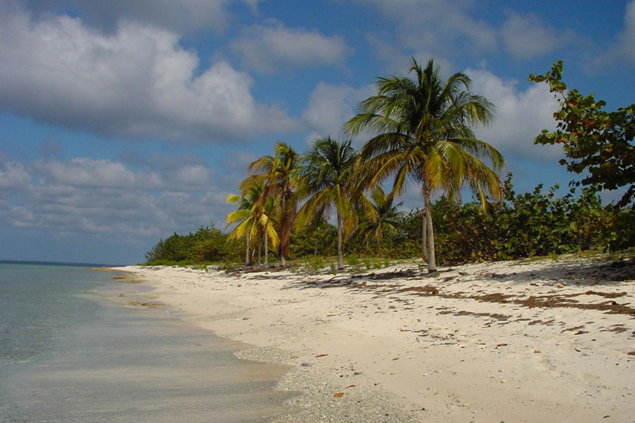 Beach near María La Gorda in western Cuba