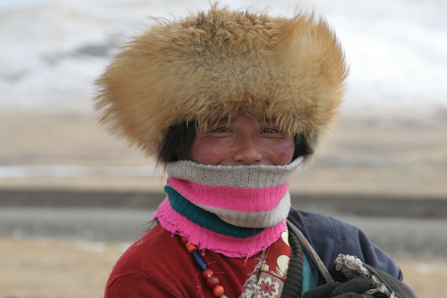 Tibetan nomad woman in Qinghai
