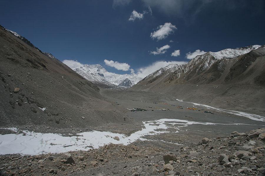 Everest Base Camp with Rongbuk Glacier