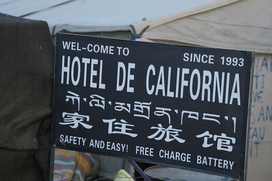 Hotel California in the tourist Everest Base Camp