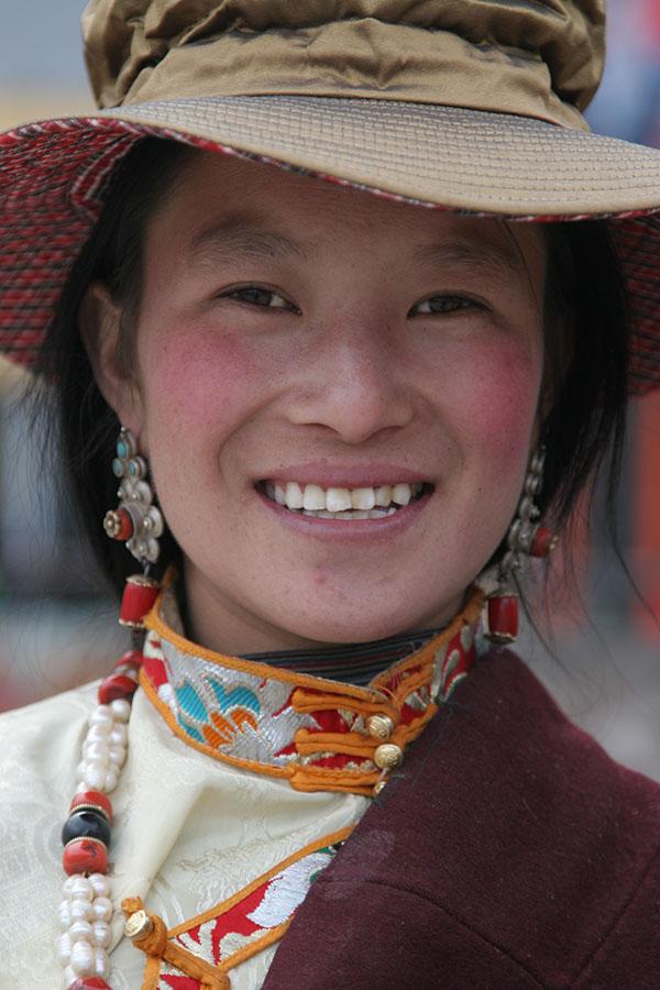 Tibetan woman in Qinghai province