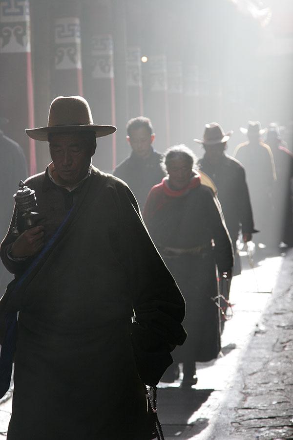 Tibetan pilgrims in Lhasa