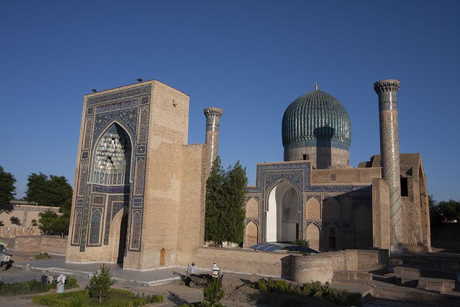 Het Guri Amir mausoleum complex in Samarkand