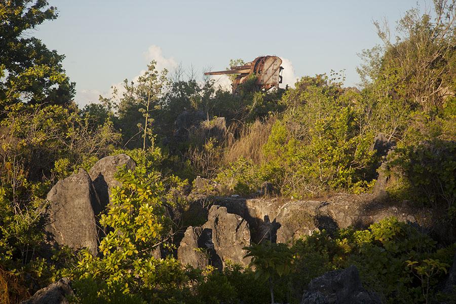Oud Japans wapentuig op Topside in Nauru