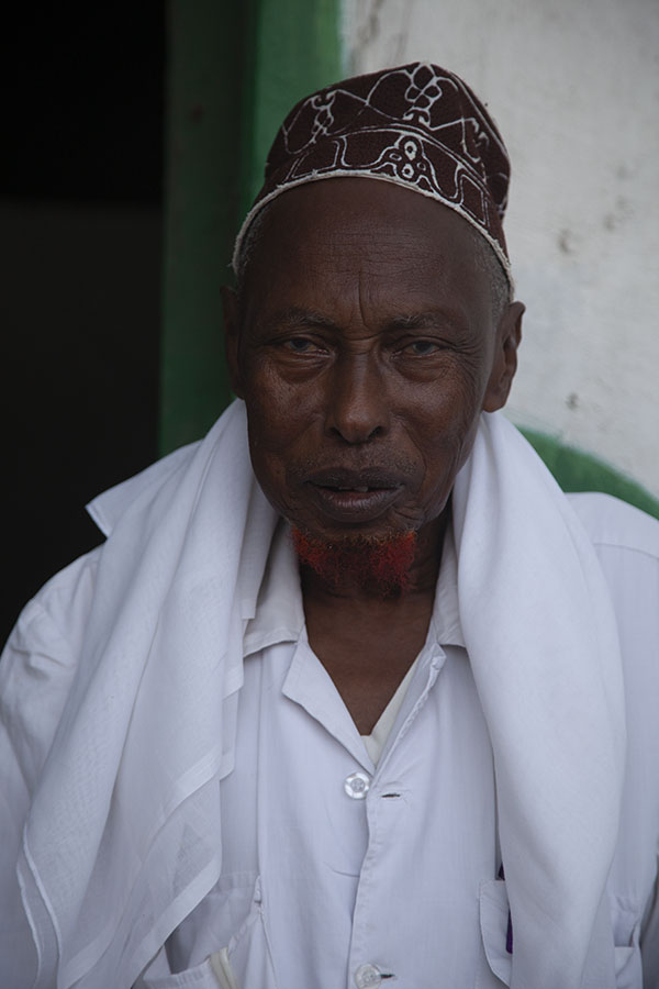 Iman bij de Fakr ad-Din moskee, Mogadishu