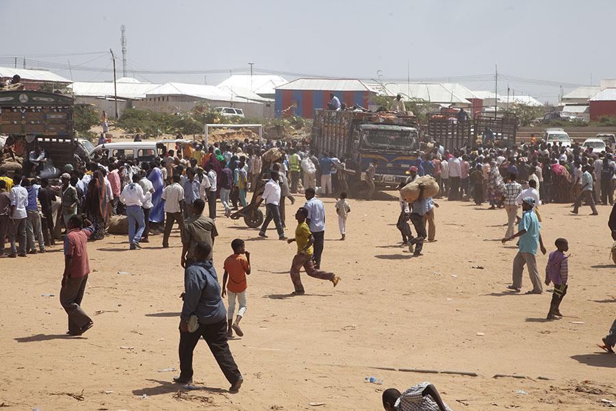 Qat markt in Mogadishu