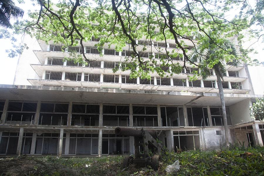 Het Ducor Palace hotel van Monrovia