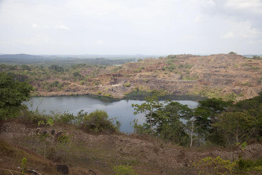 Bomi meer in het westen van Liberia