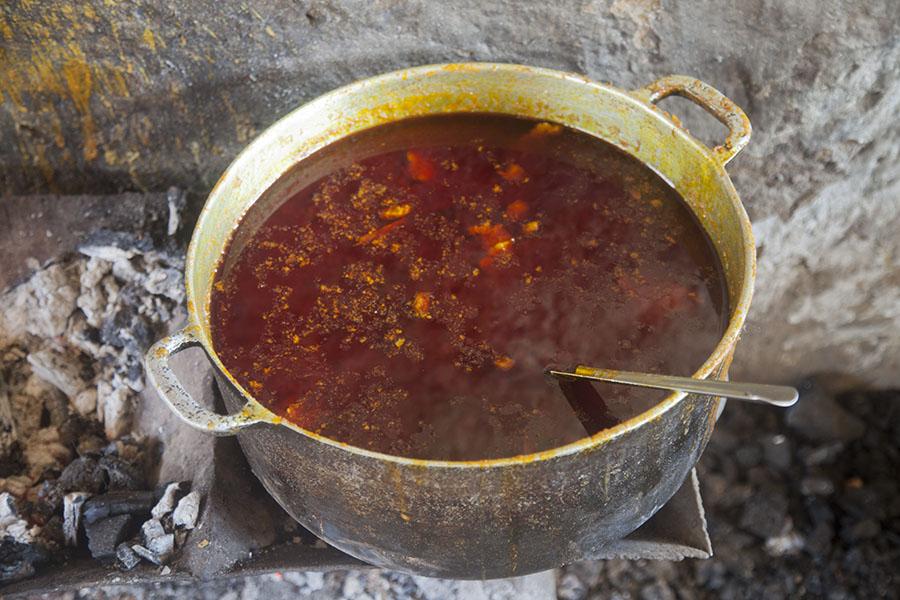 Typische Liberiaanse stoofpot