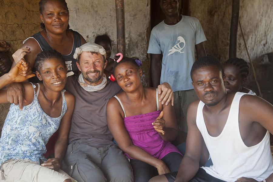 Vrienden maken in Liberia