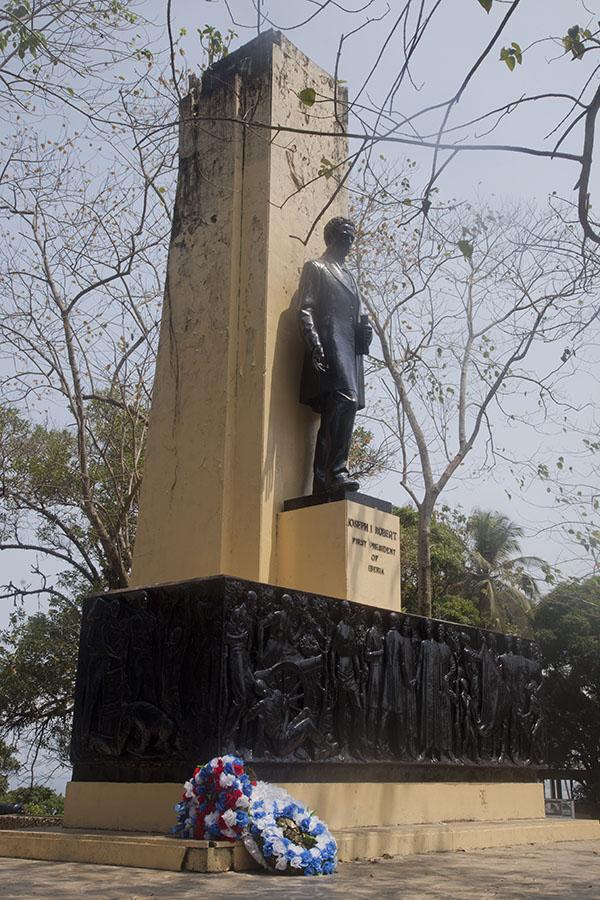 Monument voor Joseph Robert, de eerste president van Liberia