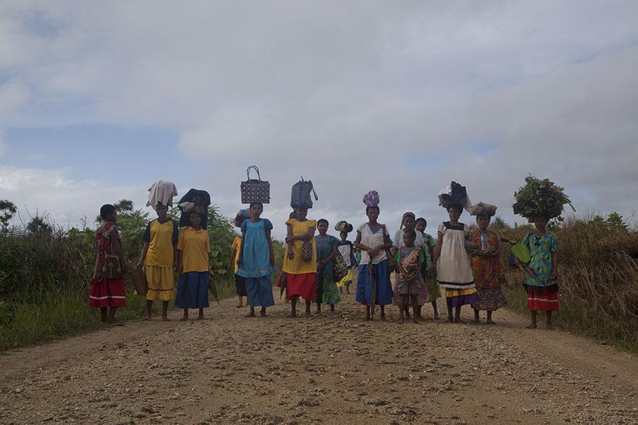 Vrouwen op Trobriand eiland
