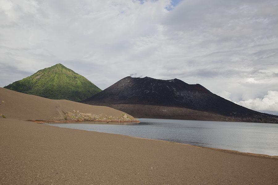 Vulkanen op Rabaul eiland