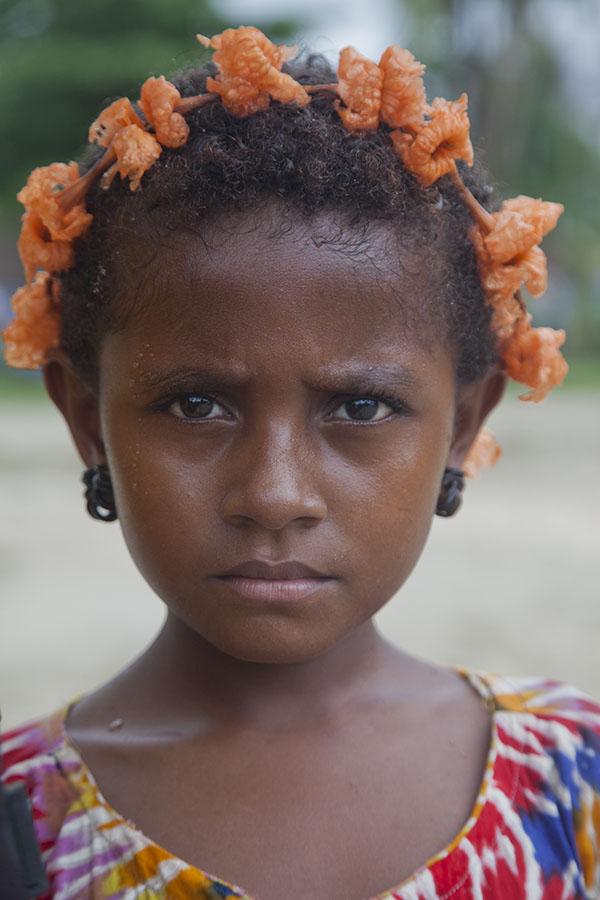 Jong meisje op Trobriand eiland