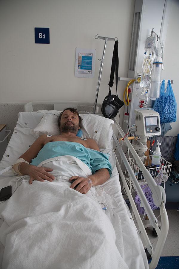 Herstellen na de operatie in het ziekenhuis van Rustenburg