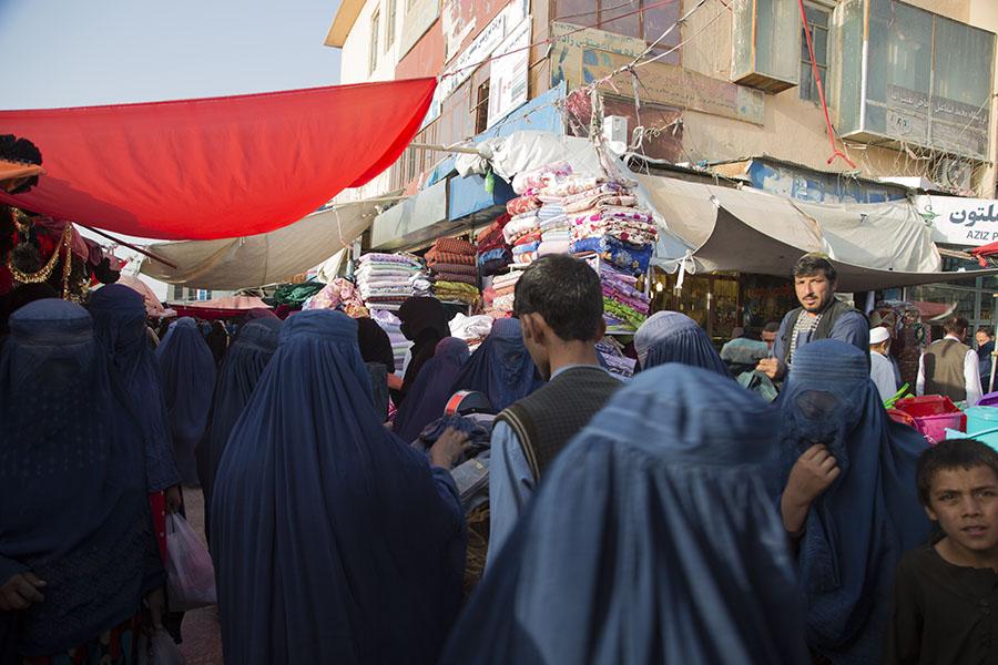 The market of Mazar-i Sharif
