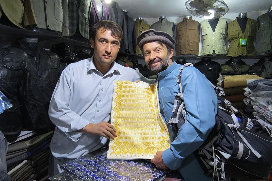 Cloth seller in Mazar-i Sharif